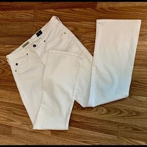AG The Jodi Crop White 29 Stretch Twill